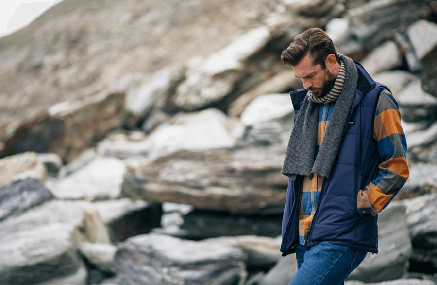 Stort udvalg af moderne halstørklæder til mænd